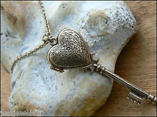 Christmas gifts womens jewelry girls Key Locket Unusual Gift for her necklace
