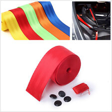 Red 3.6m Car Interior 3 Point Safety Retractable Seat Belt Seat Lap Universal