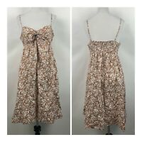 Vineyard Vines Womens 4 Sundress Fish Printed Tied Front Sleeveless Cotton