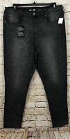 Seven7 womens 18W Jeans ultra skinny high rise gray new rhinestone D5