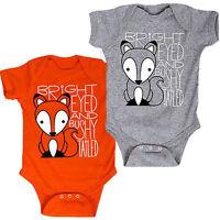 Newborn Foxes Kids Baby Boy Girl Cotton Romper Jumpsuit Bodysuit Outfit Clothes