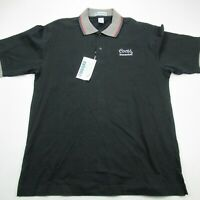 Coors Mens Golf Polo Shirt Black Short Sleeve Large NWT Shenandoah Extreme