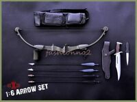"""1:6 X-TOYS Model Toys Black Bow Arrow Set & Knife Toy for 12"""" Action Figure"""
