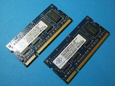Nanya 2GB (2x1GB) NT1GT64UH8D0FN-AD DDR2 PC2-6400S 800MHz Laptop Memory
