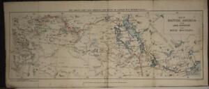 CANADA NORTHWESTERN AMERICA 1873 BUTLER SCARCE ANTIQUE ORIGINAL LITHOGRAPHIC MAP
