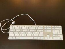 Genuine Apple A1243 Wired Aluminum Keyboard with Numeric Keypad USB - Used