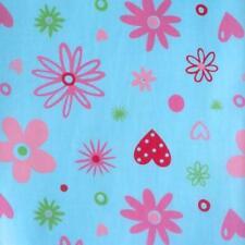 SPRINGLES - FUNKY FLORAL - BLEU - POLY COTON tissu vendu par mètre enfants