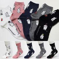 5 Pairs MOOMIN Cartoon Socks Women Socks New Cute Character Socks MADE IN KOREA