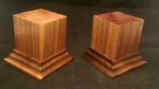 1.75x1.75x2.5 Hand Made Wooden base for figures/miniatures - Solid walnut wood