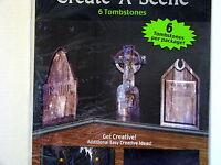 Halloween Decoration Prop Tombstone Graves Create-A-Scene 6 in pkg