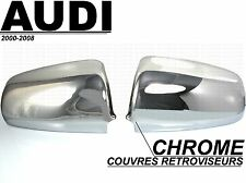 AUDI A4 B6 S4 2000-04 CHROME SIDE MIRROR COVER CAPS MOLDING WINGS SLINE QUATTRO