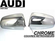 AUDI A4 B6 S4 2000-04 CHROME SIDE MIRROR COVER CAPS MOLDING WINGS SLINE QUATTRO