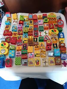 GENUINE LEGO DUPLO 95 PICTURE BRICKS BLOCKS MIXED PICTURES NUMBERS AND SIZE set4