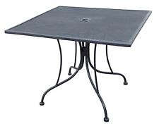 36 x 36 Square Black Mesh Wrought Iron Metal Table Outdoor Restaurant Cafe Patio