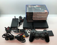 PS2 Playstation 2 Slim Complete With Controller, Memory And Games