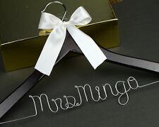 Personalized Wedding Hanger, Bridal Hanger, Bride Bridesmaid Name Hanger Gift B