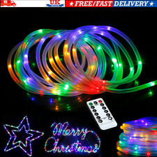 39ft RGB LED Strip Light Rope 120 Fairy Tube Outdoor Garden Xmas Party Decor UK