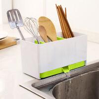1Pc Plastic Racks Organizer Caddy Storage Kitchen Sink Utensils Holders Drainer
