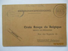 War Prisoners Mail Stalag VIII B Lamsdorf Łambinowice 1941 Belgium (2681)