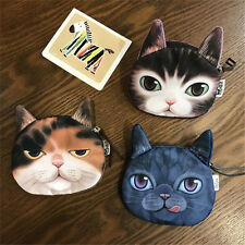 3D Children's Wallet Bag Animal Face Zipper Mini Cat Coin Purses Dog Purse Plush