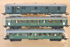 POCHER 3 RAIL RAKE of 3 SBB CFF 1st 2nd CLASS COACH COMPATIBLE with MARKLIN nl