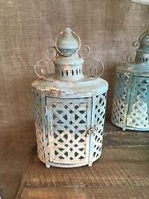 Rustic Finish Hurricane Lantern with Front Door & Handle vintage style no glass