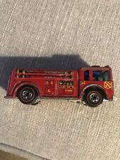 Vintage Hot Wheels Redline 1976 - Fire Eater Fire Engine- Made In Hong Kong