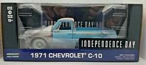 Green Machine 84132 Independence Day 1971 Chevrolet C-10 Greenlight Chase 1/24
