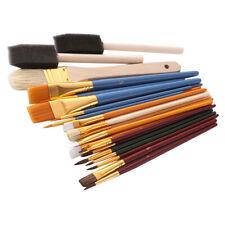 25Pcs All Purpose Art Paint Brushes Set for Acrylic, Oil, Watercolor Gouache