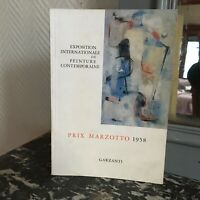 art catalogue exposition internationale de peinture Garzanti Prix MARZOTTO 1958