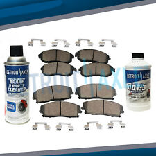 Front & Rear Ceramic Brake Pads Kit for Avalanche Silverado Suburban Sierra 1500