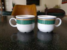 SELTMANN WEIDEN GERMANY DEMITASSE ESPRESS COFFEE CUPS BLUE GREEN YELLOW HOTEL