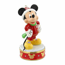 Disney Christmas Mickey Mouse Hinged Metal Die Cast Trinket Box Figure 8cm DI345