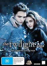 The Twilight Saga (2008-2012): 5x Set Complete Movie Collection - New Au R4 Dvd