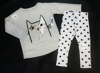 NWT Old Navy Girls Size 12 18 Months 2t 3t 4t 5t Kitty Cat Tunic Top & Leggings