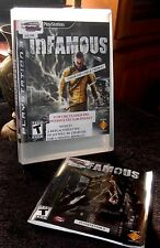 Infamous PS3 Playstation 3 Game, Case & Book included Rated Teen  2009