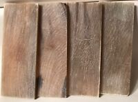 4 Buffalo Horn Honey Color Knife Scales Plates Knife Making Handle Supply Inlays