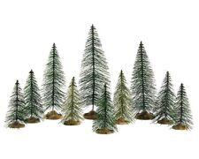 "Lemax Weihnachtsdorf "" Needle pine trees "" Nadelbäume 10er Set"