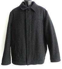 Alfani Jacket/Coat Size L 100% Wool Charcoal Tone Full Zippered