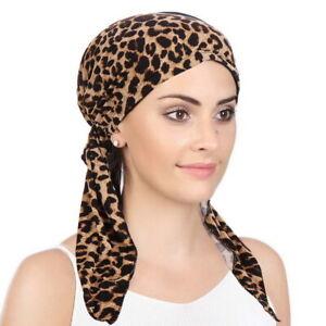 Women Elastic Turban Hat Cancer Chemo Hair Loss Cap Muslim Hijab Head Wrap Cover