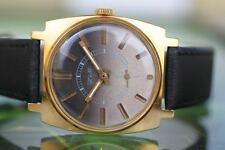 GREAT MEN'S VINTAGE BIG THICKLY GOLD-PLATED MECHANICAL USSR ZIM 15 JEWELS