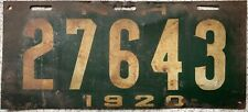More details for 1920 new hampshire american license licence usa number plate tag 27643