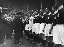 King George V meeting the Arsenal team at Wembley 1930 OLD PHOTO