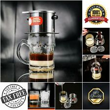 Vietnamese Coffee Filter Phin 11 oz One Cup Coffee Maker Drip Infuser Pour Over