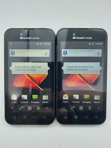 Lot of 2 LG Marquee LG855 Boost Mobile 4GB Black *Check IMEI*