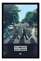 Framed The Beatles Abbey Road Album Tracks Poster New