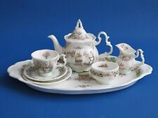 Brambly Hedge Tea Set -  Miniature Teapot, Trio, Tea Tray - Royal Doulton