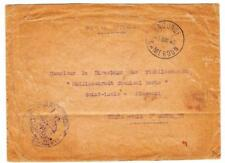 French Cameroun Official-Yaounde 1/Nov/40-Commercial Use to Usa-minor wear