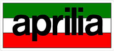 #474 (1) Aprilia Racing Logo Motorcycle Decal Sticker RSV4 Tuono LAMINATED FLAG