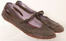 Camper Brown Leather Buckle Strap Casual Mary Jane Flats Women's Euro 41 US 10.5